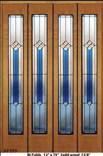 """Stained Glass Genuine  Bi-folds Doors   ( 4 )  12"""" x 79""""  48"""" wide"""