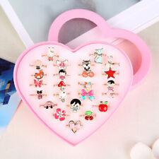 Cute Kids Children Girls Adjustable Cartoon Crystal Play Rings Jewelry Gift 34US