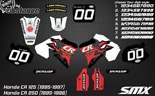 Honda CR 125 95-97 CR 250 95-96 motocross graphic kit MX decals graphics 1996
