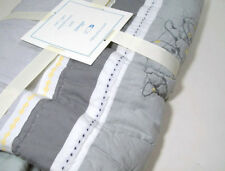 Pottery Barn Kids Embroidered Elliot Animals Baby Toddler Quilt New