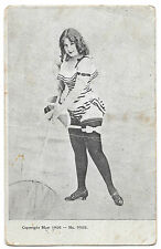 Saucy Lady Posed in Sporting Pose With Net PPC, Addressed to Arizona but Unsent