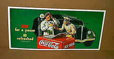 Vintage COCA-COLA Coke Garage Service Station Store Tin Display Advertising Sign