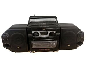 JVC PC-XC12BK Boombox CD portable component system ** 1998 (Tested) Tape Decks