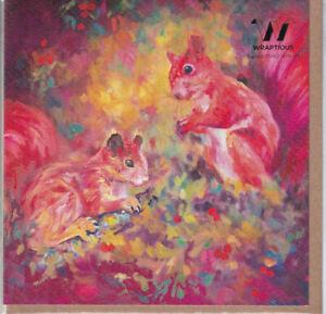 Red Squirrels Greetings Card - Sue Gardner birthday