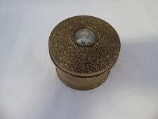 Vintage Apollo Powder Vanity Jar Box w/Miniature Painting