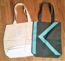 2 New Promotional Interior Design Canvas Bags - Kontor & Shaw Contract travel