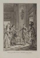 Hubert-François GRAVELOT (*1699), Voltaire, Le Duc de Foix, 1771, Kupferstich