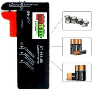 NEW 2022 LED Universal Battery Tester Checker AA, AAA, 9V PP3, 1.5V Button Cells