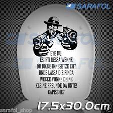 WC Deckel Aufkleber Mafioso Gangstar (Nr.129) Toiletten Fun Sticker 17,5x30 cm