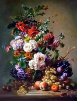 Wall Art Print Still life Flower Oil painting Printed on canvas 16X20 inch P117