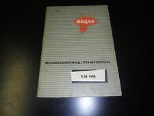Betriebsanleitung Welger ET Liste Stalldungstreuer LS60