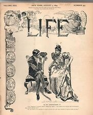 1893 Life August 3 -Bulldog sketches; France and Siam; Episcopal criticism