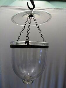 Belgian Lamps Glass Hanging Hall Light Vintage Lantern Hundi Blown Collectible*5
