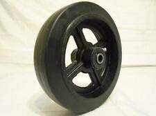 "8"" x 2"" Rubber on Steel Hub w/ Roller Bearing & 1/2"" Bushing 600lb"