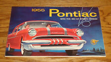 Original 1955 Pontiac Full Line Foldout Sales Brochure 55 Star Chief Chieftan