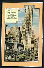 FIFTH AVENUE WITH PUBLIC LIBRARY & 500 5TH AVE. BUILDING, NEW YORK CITY *
