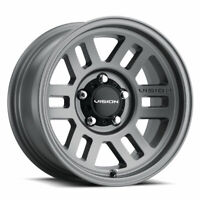 "17"" Vision Manx 2 Overland 355 Satin Grey Wheel 17x9 6x5.5 +18mm 6 Lug Truck Rim"