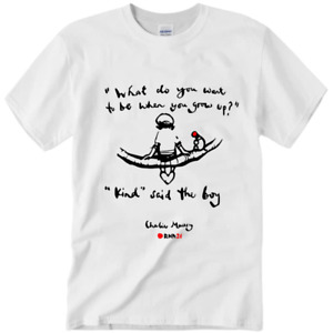 Charlie Mackesy RED NOSE DAY T-Shirt Funny Father's Mother's Day-black and white