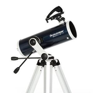 Celestron Omni XLT 114AZ Astronomical Newtonian Telescope StarPointer Pro 22151