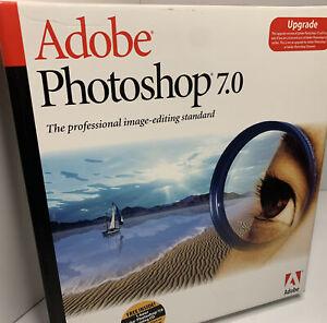 Vintage Adobe Photoshop 7.0 upgrade for Windows with Original Serial Number