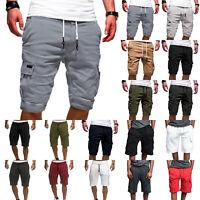 Mens Cargo Summer Holiday Casual Jogger Gym Shorts Army Combat Elastic Pants