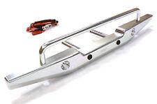 Integy INTC26374SILVER Metal Rear Bumper w/LED Axial SCX-10 43mm Mount
