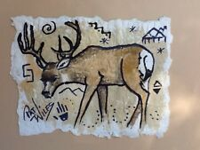 Rock Art ROCKY MTN. Whitetail/Mule deer Wildlife Watercolor