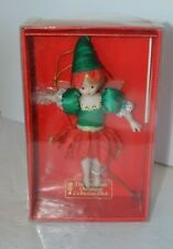Christmas Ornament Porcelain Fairy Doll Collectors Club in Box #7