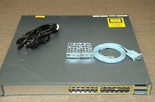 Cisco WS-C3750E-24PD-S 24x10/100/1000 PoE + 2x10GE Switch  w/ Racks 1 YEAR Wty
