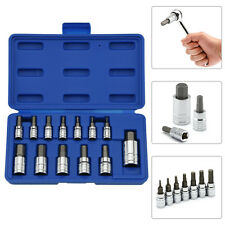 "Hex Bit Socket Set | 13pc Standard Allen Key Wrench 1/4"" 3/8"" 1/2"" Drive"