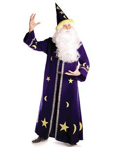 Spell Master Mens Adult Blue Magical Wizard Halloween Costume-Xxl