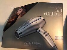 John Frieda Hair Dryer Full Volume 1875 Watts Shiny Ionic Frizz Free Hair New