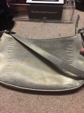 Via Spiga Small Lizard embossed Leather Purse Off White with almost Irridescent