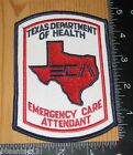 Texas Department of Health Emergency Care Attendant Cloth Patch Only