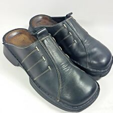 Womens Naot Slides Slip-on Comfort Shoes Mules-Black +Contrast Stitch-EU 36-US 5