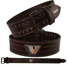 VELO Weight Lifting Belt Leather Power Belt Gym Back Support Training Fitness