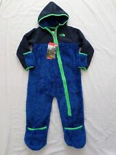 New The North Face Infant Boys Chimborazo Fleece One Piece Bunting 18-24 months