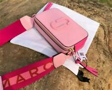 Marc Jacobs Snapshot Strap Camera Bag Ceramic Pink Crossbody Leather Authentic