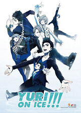 Yuri On Ice Group Ice Skating Wall Scroll Poster NEW