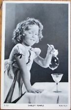 Shirley Temple 1930s Fox Film Movie Star Postcard: Blowing Bubbles w/Pipe, Right