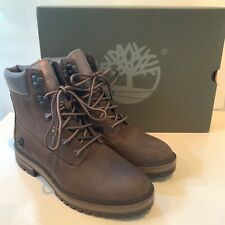 Women's Timberland Boots Size UK 6 Brown Taupe Leather London Square Boxed