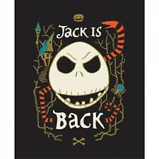 Nightmare Before Christmas Jack Is Back Fabric Panel Glows in the Dark