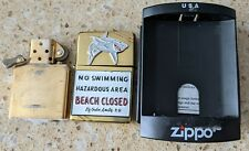 More details for original zippo brass lighter - customised for jaws movie - used