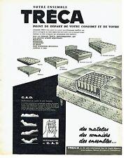 Publicité Advertising 0517  1962  les matelas Tréca sommiers télécommande C.A.D
