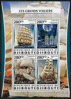DJIBOUTI  2016 GREAT SAILING SHIPS  SHEET MINT  NEVER HINGED