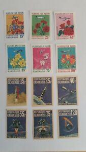 1971 Republique Gabonaise Fleurs Par Avion / Apollo 14 MLH