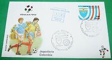 RARE ITALIA 90 14/06/1990 JUGOSLAVIJA - COLOMBIA BOLOGNA COUPE MONDE FOOTBALL