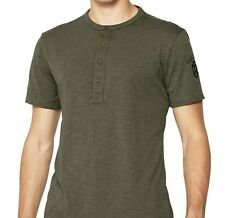 G-Star Raw S Mens Sage Green Miller Grandad RT SS T-Shirt Bnwt Brand New Top l
