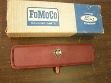 NOS OEM Ford 1967 Galaxie Fairlane Mustang Loop Mount Rear View Mirror Red 1968
