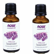 Pack of 2 NOW FOODS 100% Pure Lavender Essential Oil 1oz 30ml FRESH MADE IN USA
